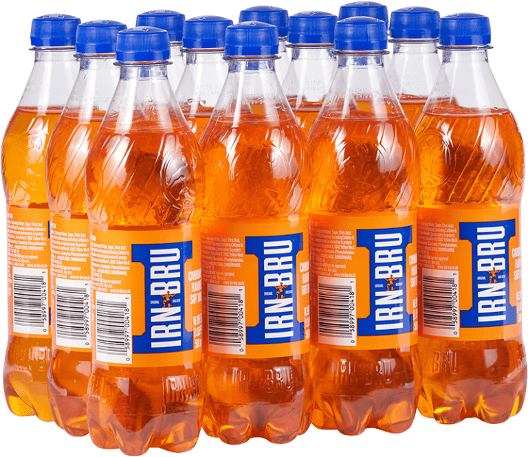 Irn Bru bottles - the flavour of Scotland