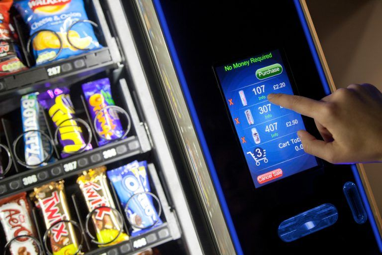 Workplace machines to provide chocolate bars