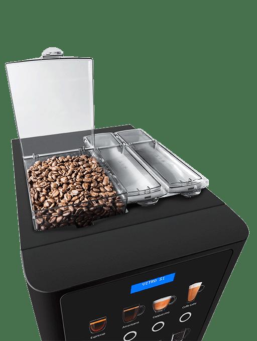 Coffee beans in vending machine